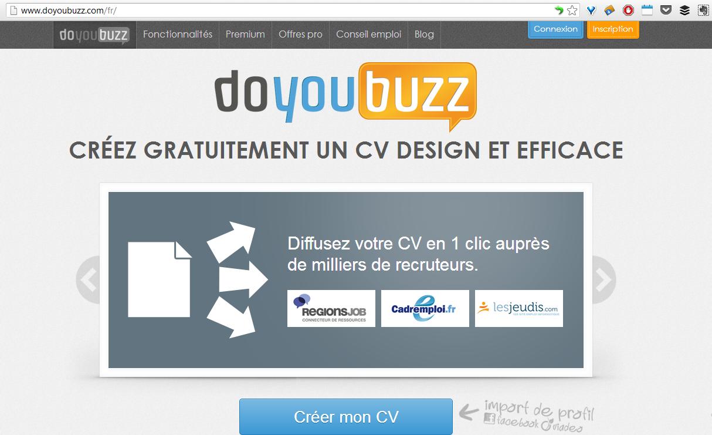 Scan Doyoubuzz homepage