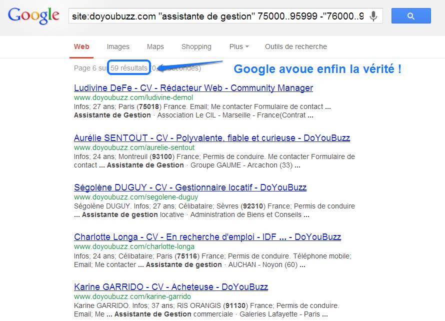 Scan Doyoubuzz mensonge google