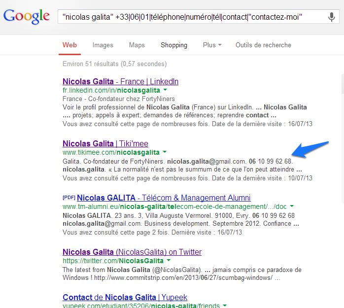 Trouver un numéro de téléphone Google NG