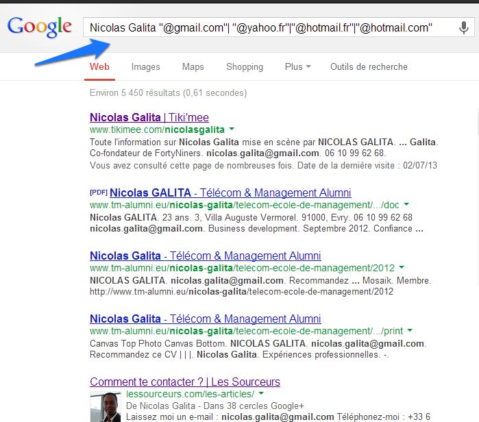 email round 2 google requete