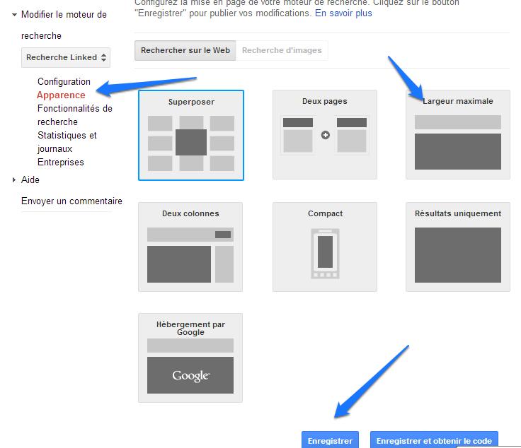 Google CSE - Apparence