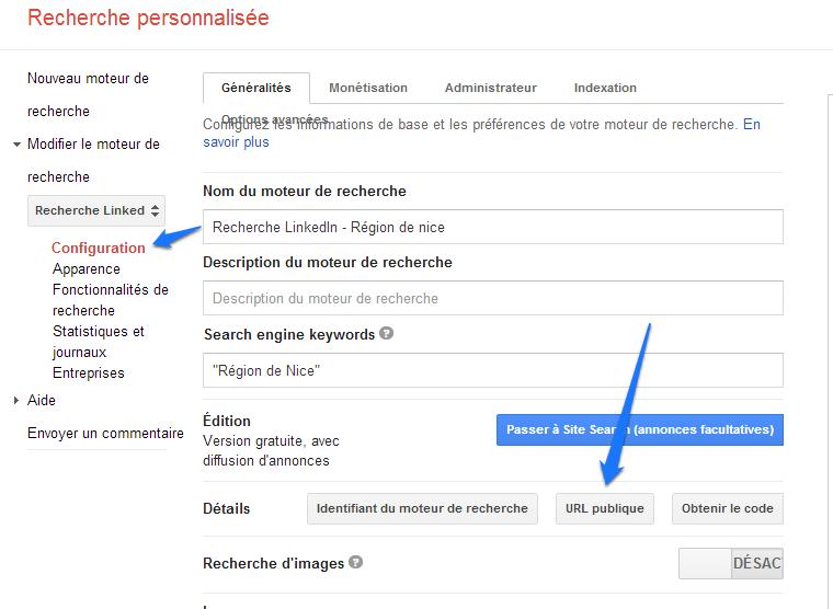 Google CSE - URL publique