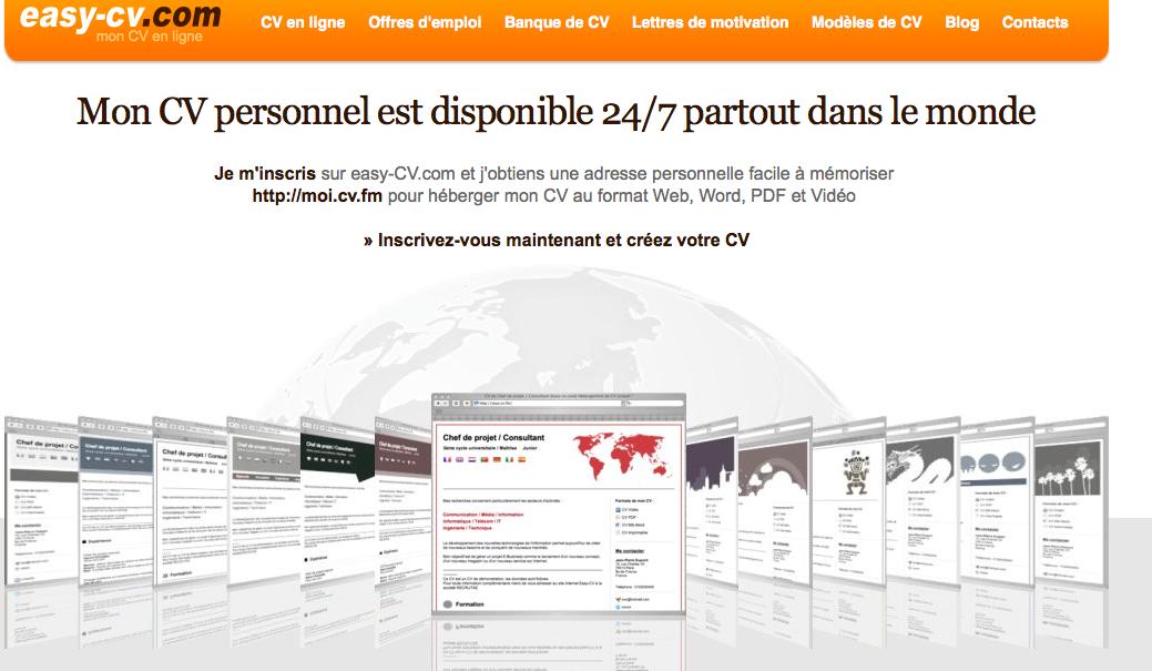 Easy-cv homepage