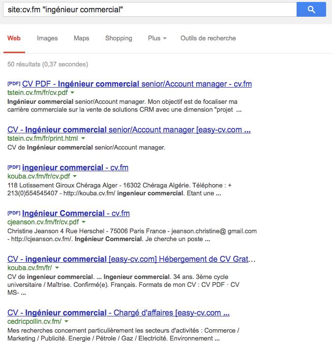 Easy-cv recherche site titre