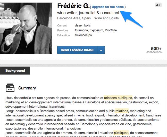Trouver un nom complet LinkedIn 2 - Constater un nom incomplet