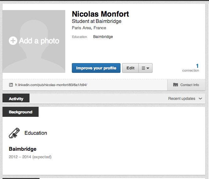 Trouver un nom complet LinkedIn 2 - Création profil