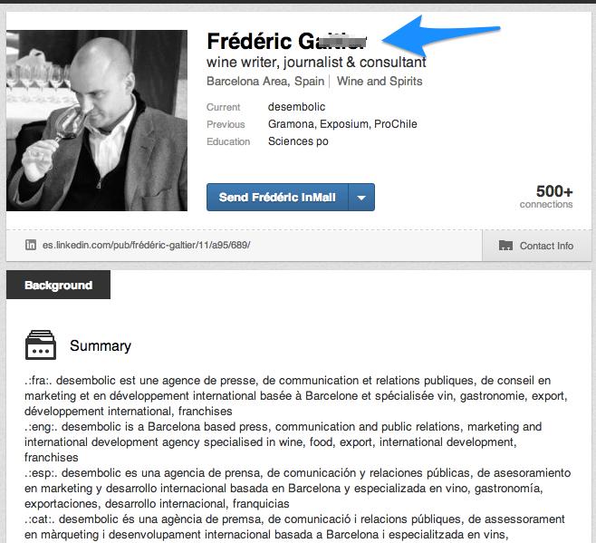 Trouver un nom complet LinkedIn 2 - Découvrir le profil partagé complet