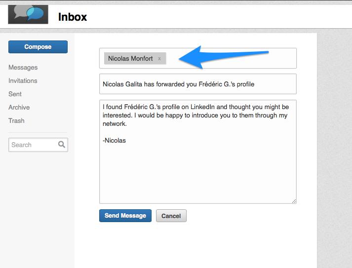 Trouver un nom complet LinkedIn 2 - Partager le profil part 2
