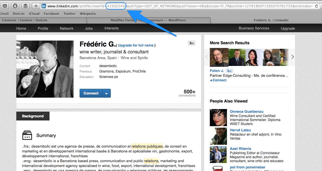 Trouver un nom complet LinkedIn 2 - Trouver un ID