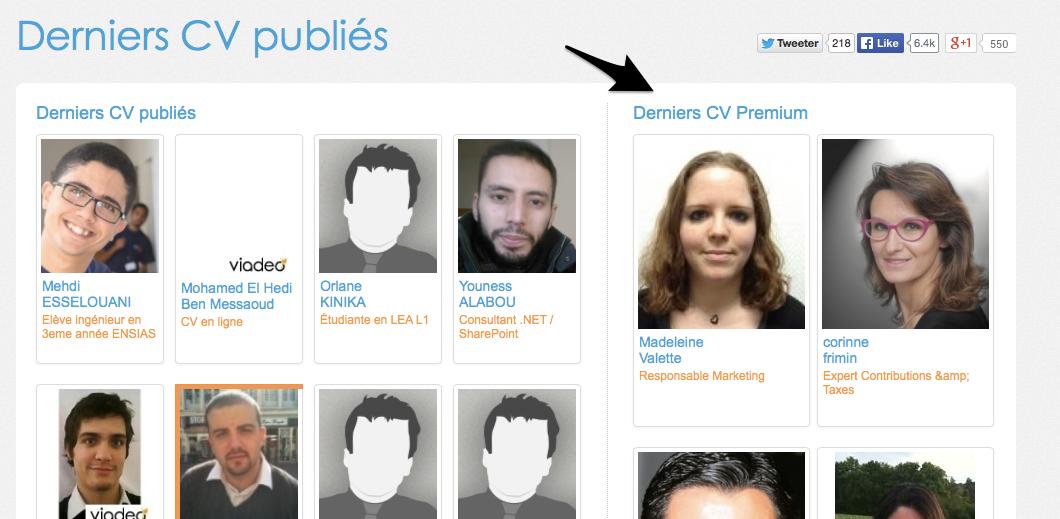Doyoubuzz 2 - trouver un cv premium