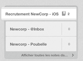 Evernote ATS -Poubelle