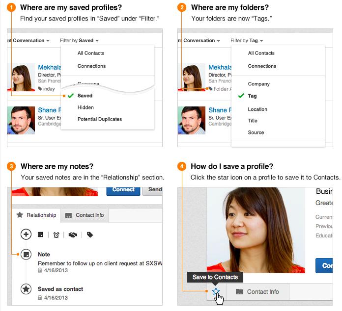 Profile organizer Linkedin