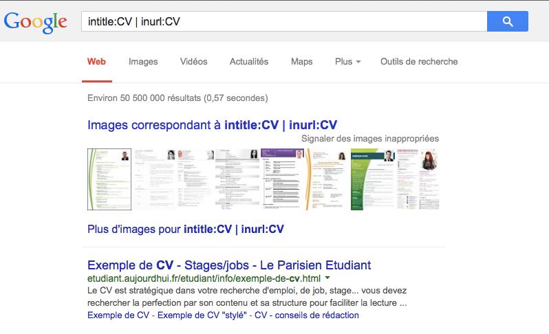 intitle_CV___inurl_CV_-_Recherche_Google